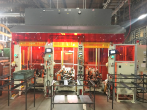Industrial Maid Automated and Robotic Welding Hood to provide industrial air filtration solutions in a welding shop or machine shop.