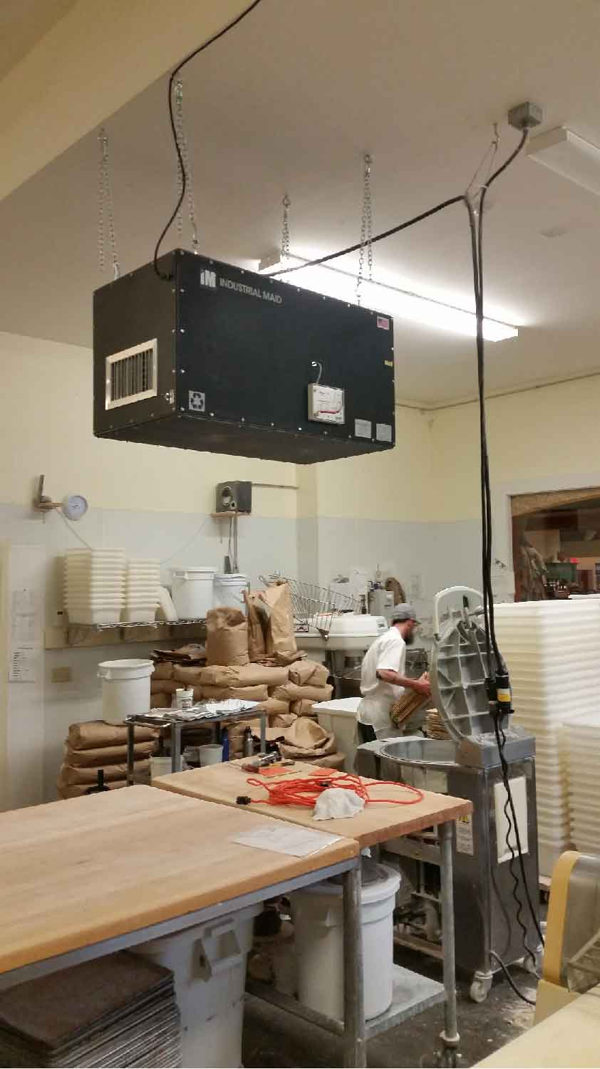 Industrial Maid Commercial Air Cleaner 2000 eliminates flour dust concern in baking company