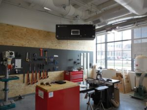 Industrial-Maid-Ambient-Air-Cleaner in University of Nebraska, Lincoln innovation Campus Maker's Space