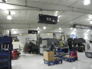 Industrial Maid Ambient Air Cleaner T3000 in a Nebraska based component manufacturer facility