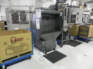 Industrial Maid Downdraft Table M36PC in Nebraska based component manufacturing plant