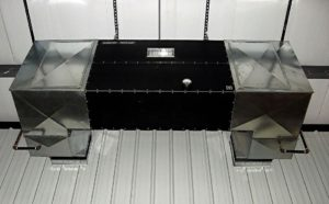 Industrial Maid Ambient Air Cleaner T4500X2 in a fabrication and machining shop to meet OSHA regulations in fabrication shops, repair areas and burn rooms.