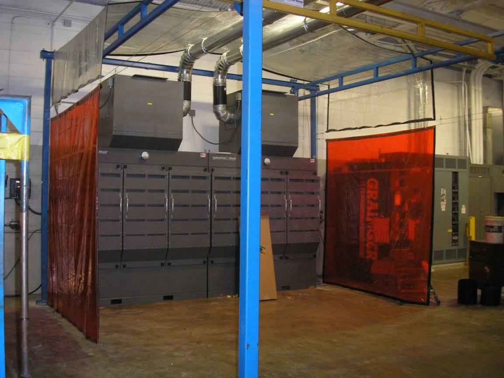 Industrial Maid EB56X2 Environmental Booth in Machine shop