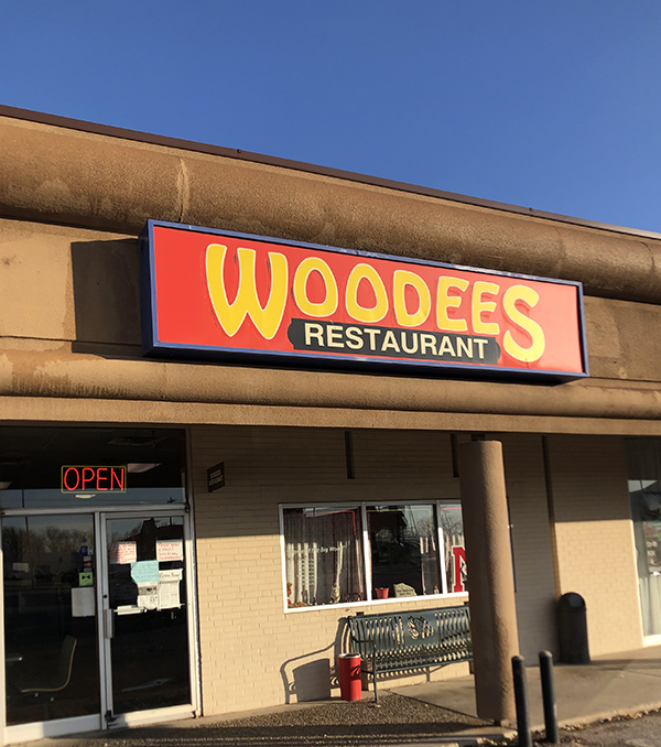 Photo of the entrance to Woodee's Diner